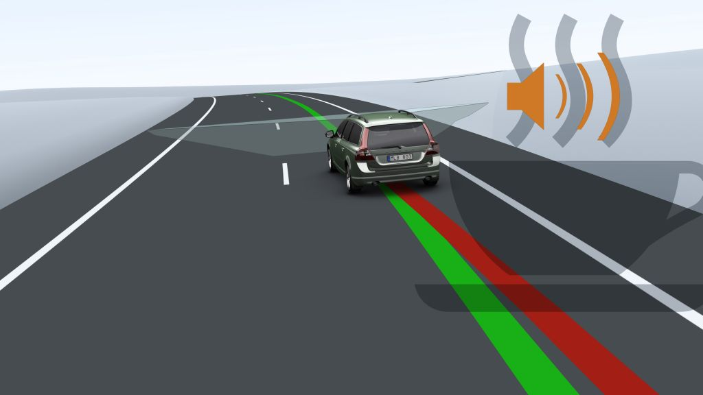 This unique technology alerts tired and unconcentrated drivers. A camera monitors the car�s movements between the lane markings and calculates the risk of the driver losing control of the vehicle.