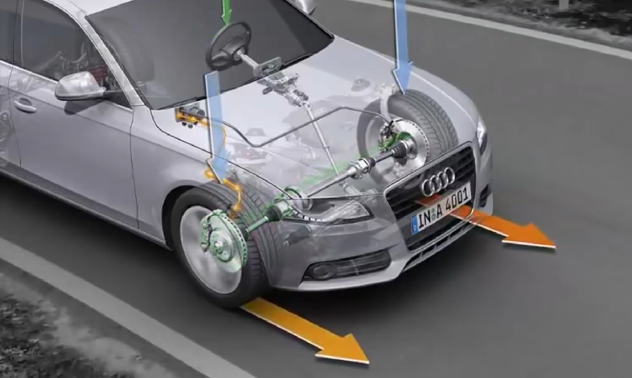 E-differential Audi video image