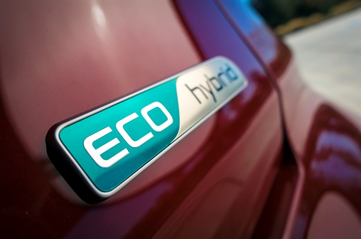 2017 Kia Niro Eco hybrid badge detail