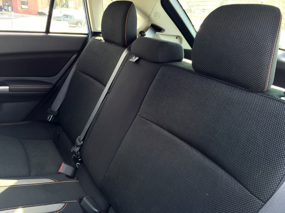 2016 Subaru Crosstrek Rear Seats