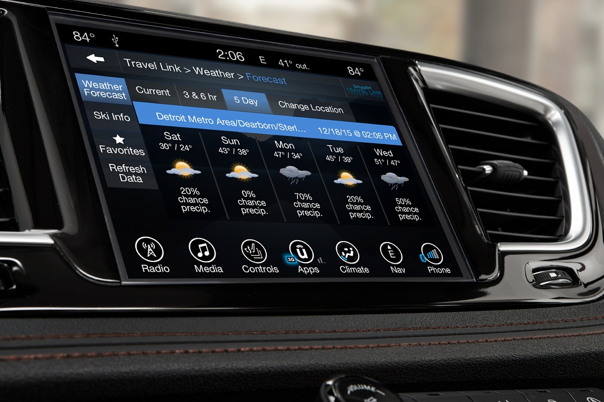 2017 Chrysler Pacifica Infotainment