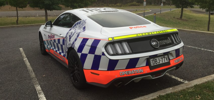 Ford Mustang Australian Police Rear