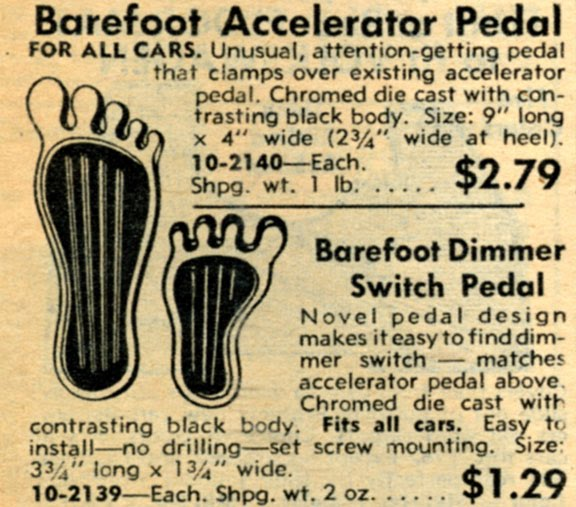 JC Whitney Barefoot Pedal