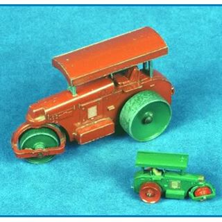 Lesney Road Roller and matchbox