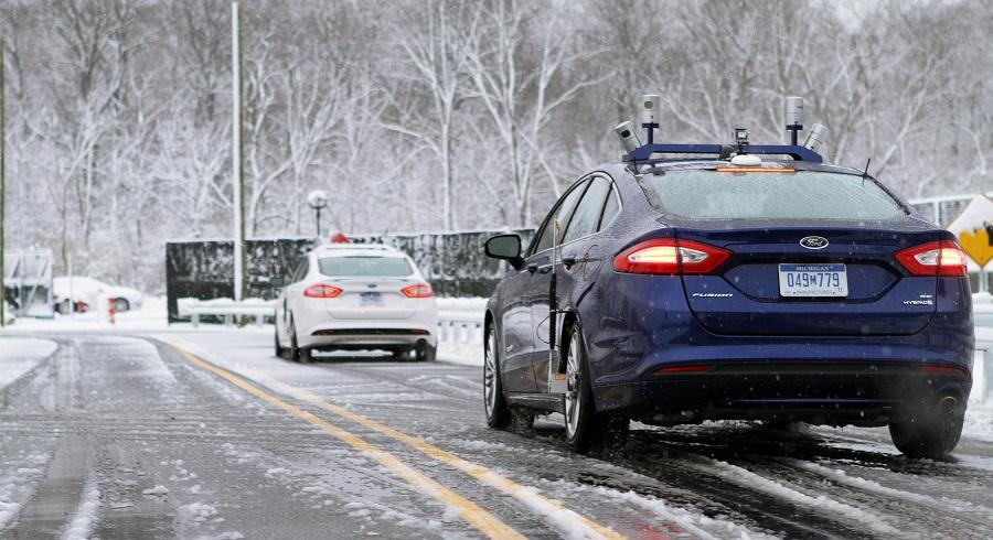 autonomous ford snow 2