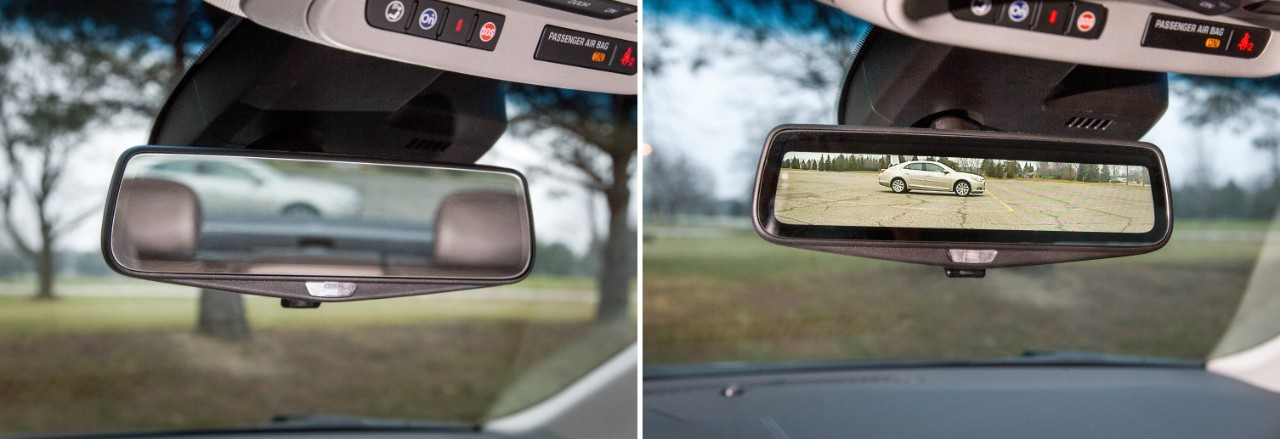 cadillac mirror two images