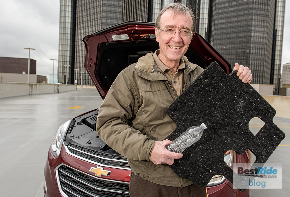 GM Global Manager of Waste Reduction John Bradburn demonstrates