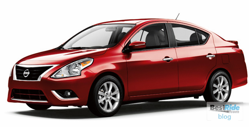 The 2016 Versa Sedan utilizes Nissan's global lightweight V platform and is powered by a 1.6-liter HR16DE 4-cylinder engine rated at 109 horsepower at 6,000 rpm and 107 lb-ft of torque at 4,400 rpm. The engine features a range of fuel efficiency enhancing technologies, including a dual injector system that allows a wider injection of fuel than a traditional single-injection system. The smaller nozzles deliver a finer spray to help achieve stable combustion.