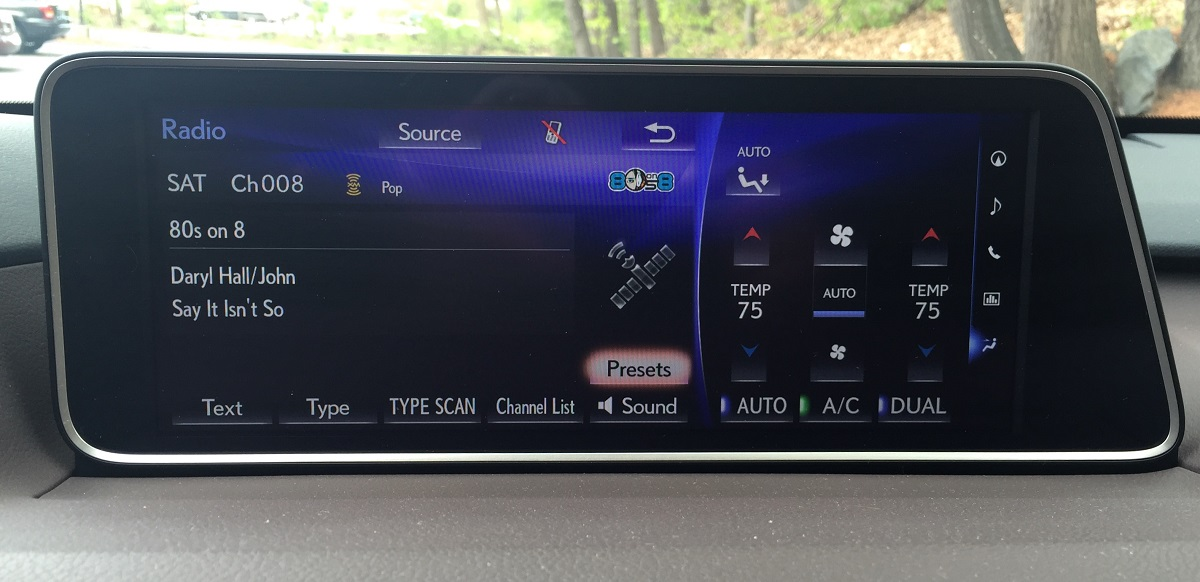 2016 Lexus RX 350 Infotainment