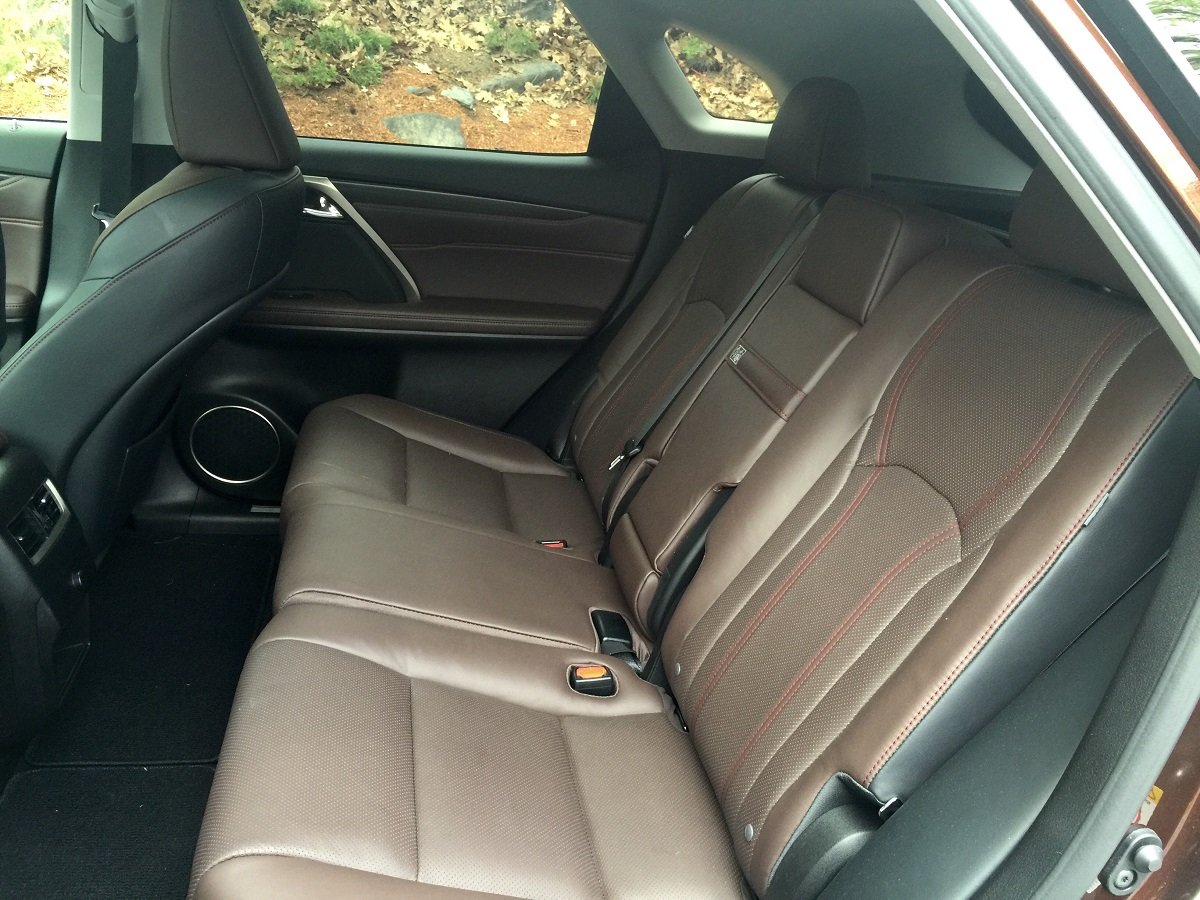 2016 Lexus RX 350 Rear Seats