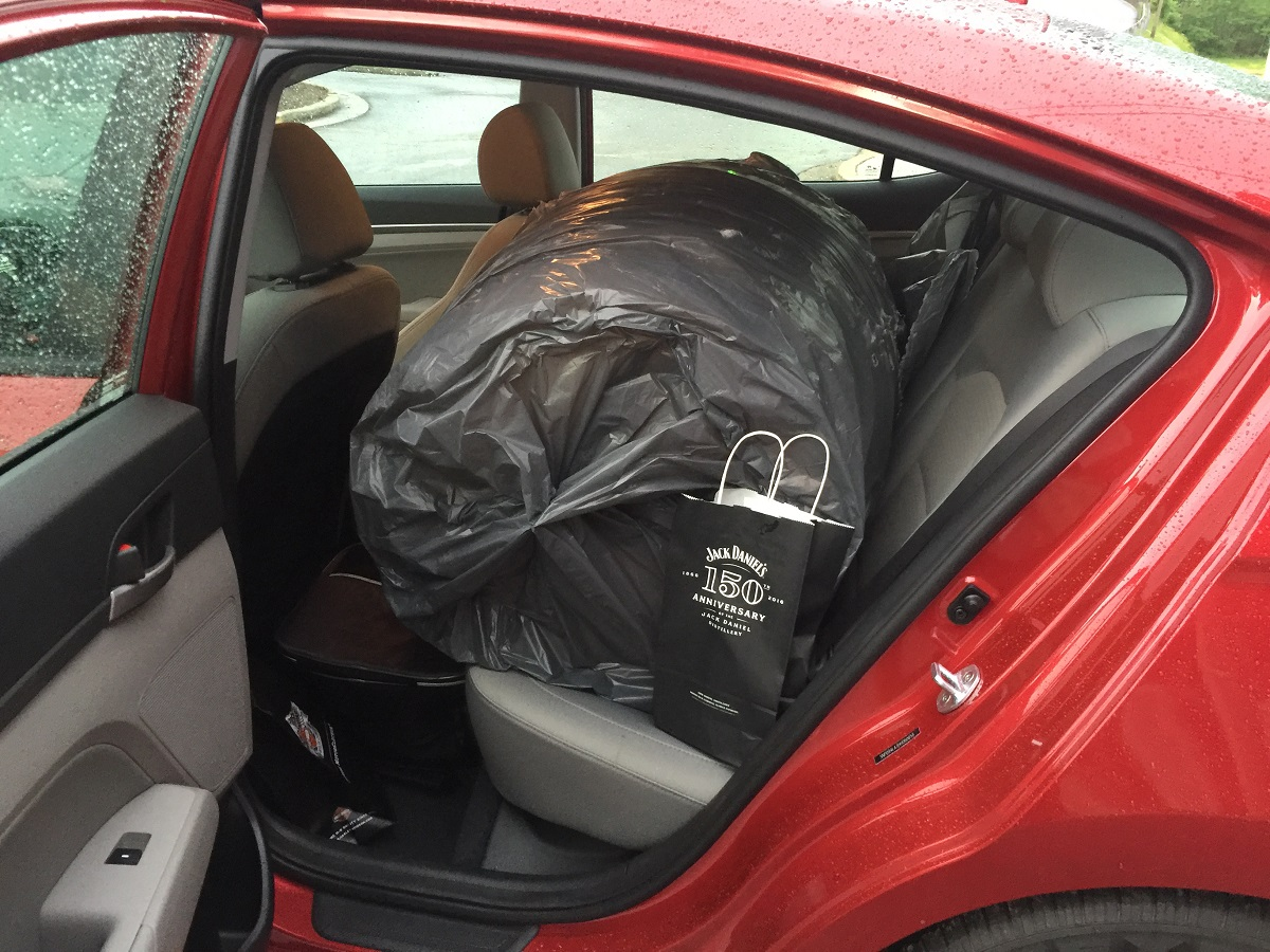 2017 Hyundai Elantra Eco Rear Seats