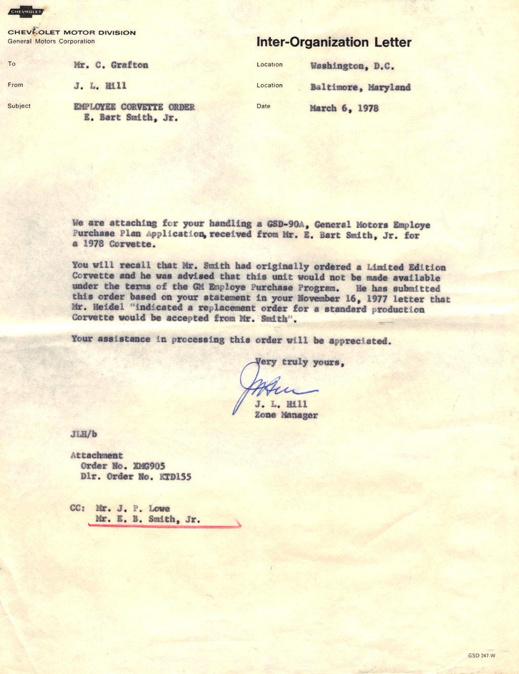 Corvette Barn Find Sales Letter
