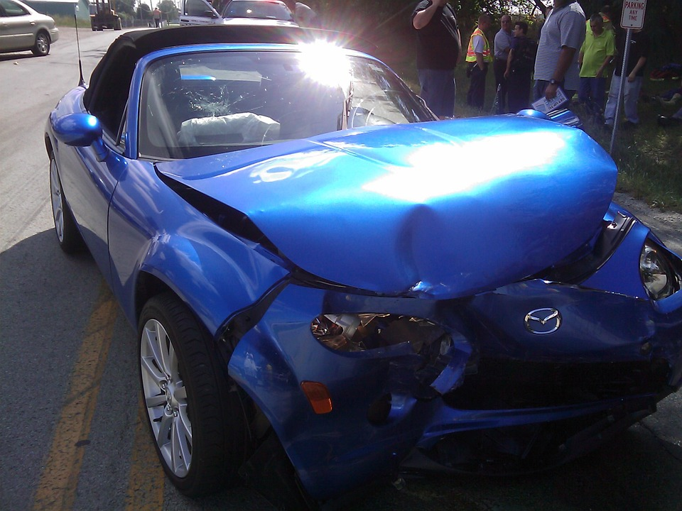 Crashed Miata
