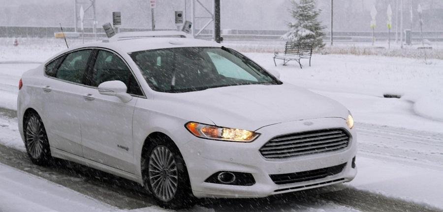 ford autonomous car snow crop