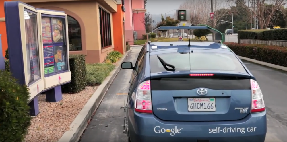 google prius at taco bell