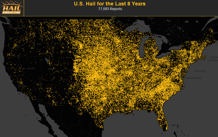 hail map care of hail protector dot com