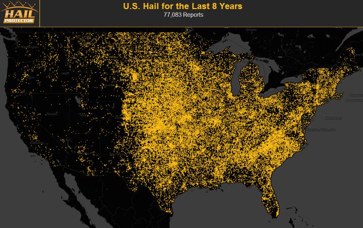 hail map care of hail protector dot com