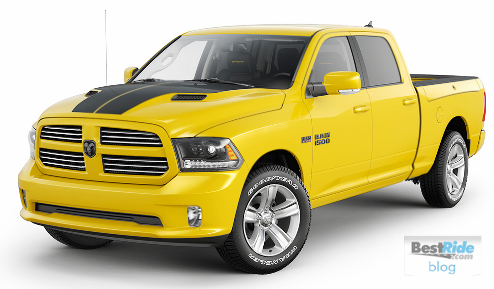 preview 2016 limited edition stinger yellow ram 1500 sport bestride. Black Bedroom Furniture Sets. Home Design Ideas