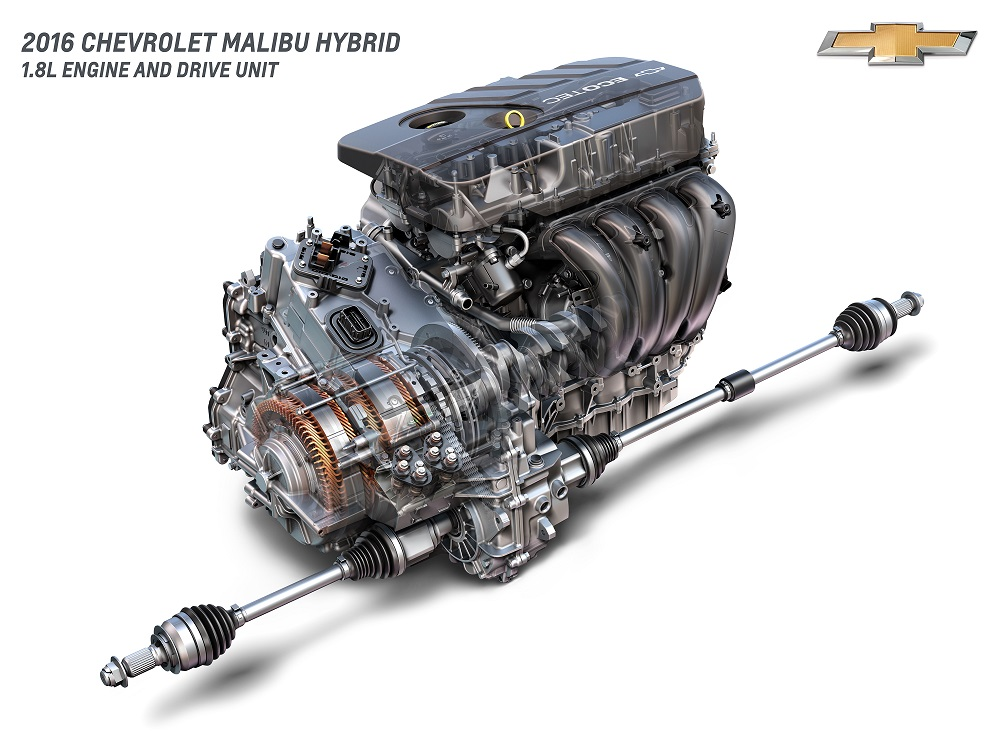2016 Chevrolet Malibu Hybrid 1.8L Engine and Drive Unit