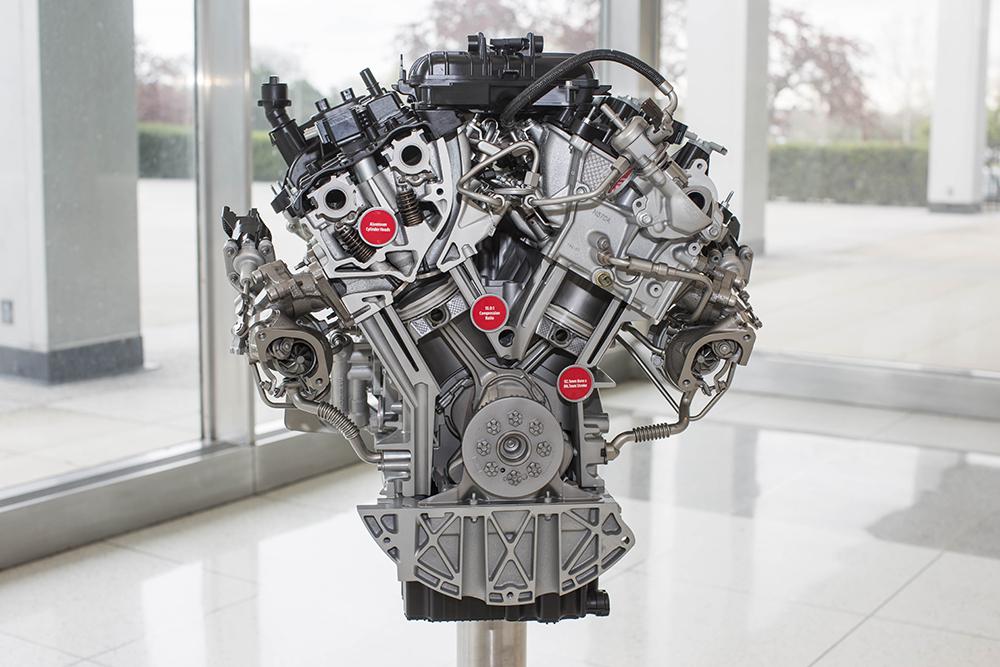 3.5 liter EcoBoost engine close up