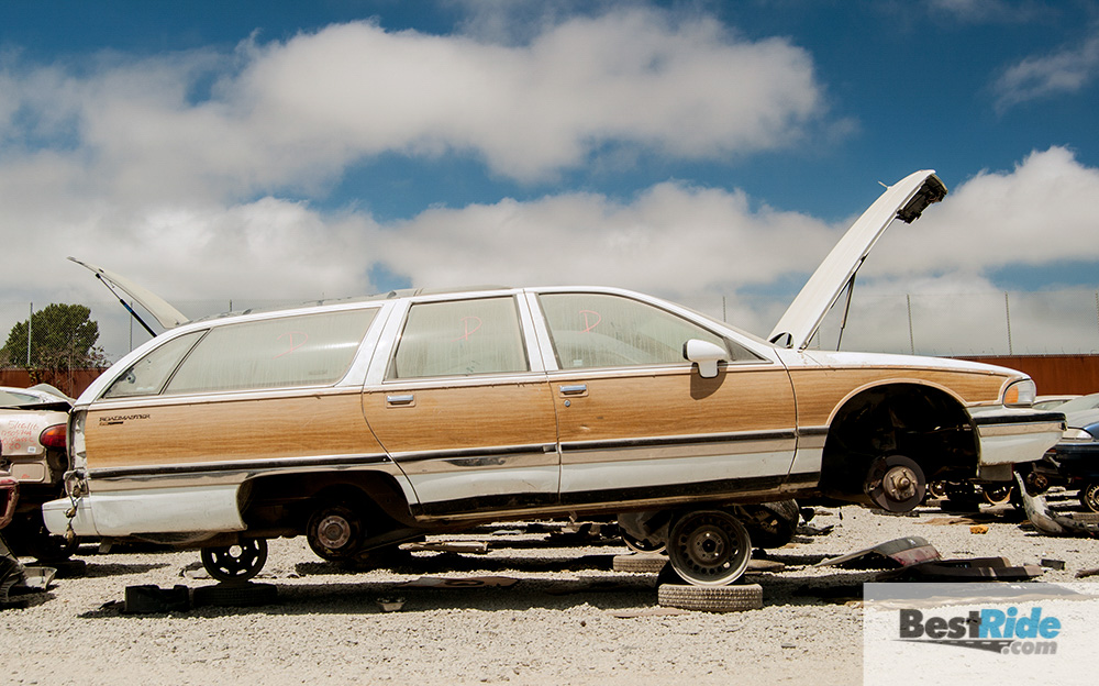 junkyard therapy: 1994 buick roadmaster wagon - wood-paneled cavern