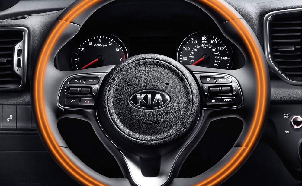heated steering wheel kia sportage