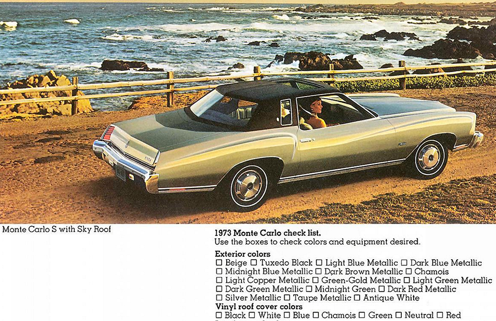 junkyard therapy 1973 chevrolet monte carlo landau. Black Bedroom Furniture Sets. Home Design Ideas