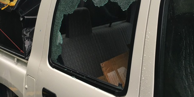 Smashed Ute Window
