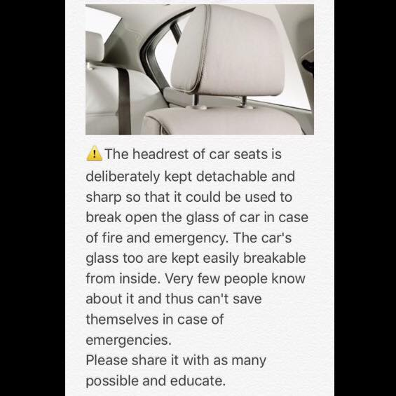 Safety Were Headrests Really Designed To Break Windows Bestride