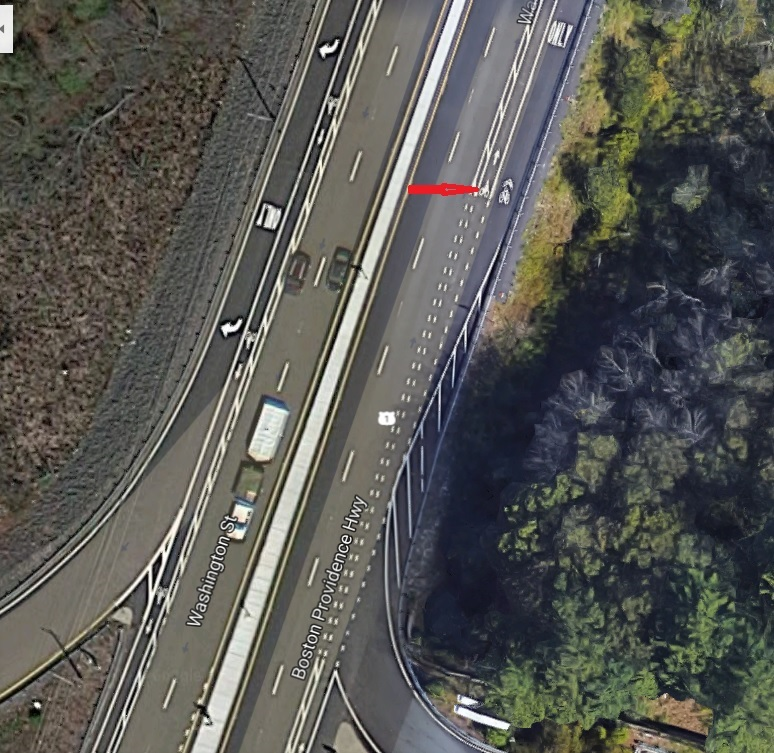 bike-lane-on-highway-google-earth