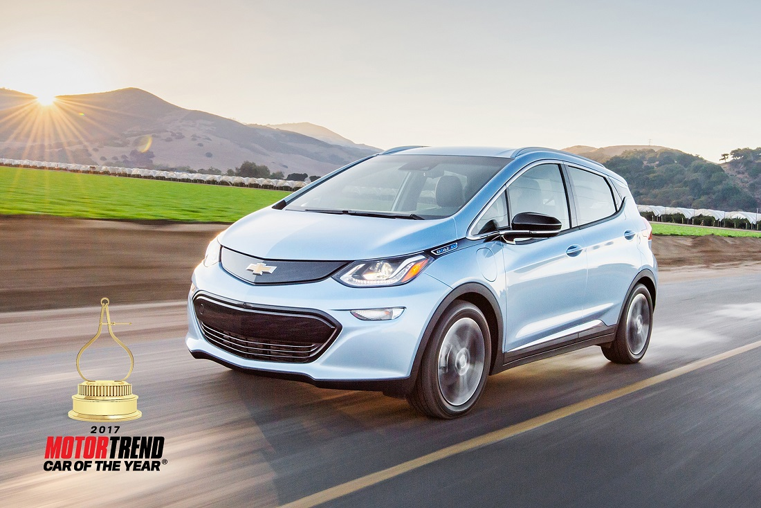 2017 Chevrolet Bolt EV the 2017 Motor Trend Car Of The Year