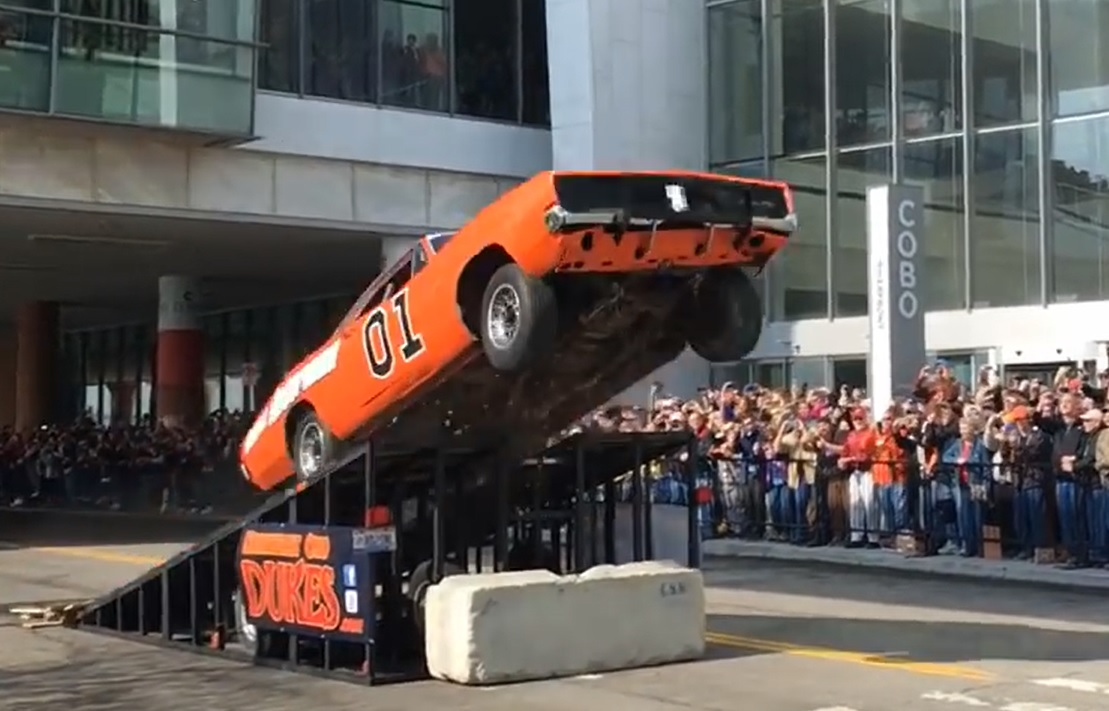 Watch The General Lee Soar Through The Air In Detroit