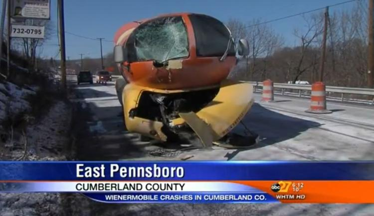 These Wienermobile Crash Photos Make You Realize Your Day Isn't