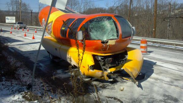 Oscar Mayer Wiener Car Crash