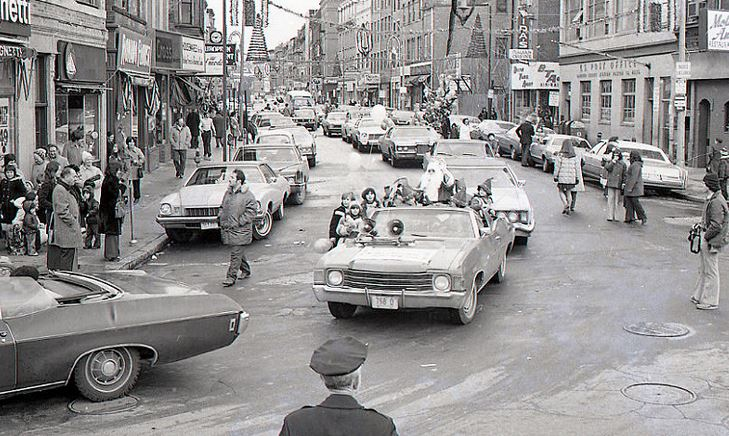 Check Out the Cars in the 1974 City of Boston Christmas