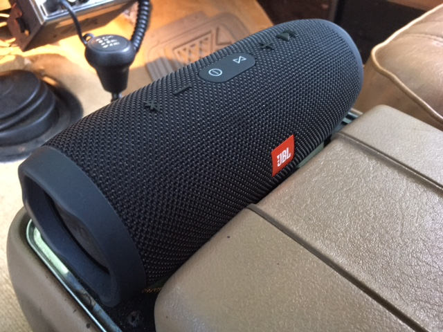 Modern Tunes in a Vintage Car: The JBL Charge 8 Bluetooth Speaker